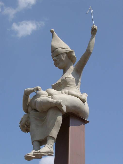 Offizielle Homepage des Bildhauers Peter Lenk : Ehrenwortbube